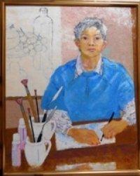 「鏡の中の私」  F30号  美術の窓   2011年8月号掲載