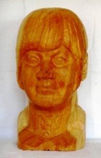 少女 (1)  木彫