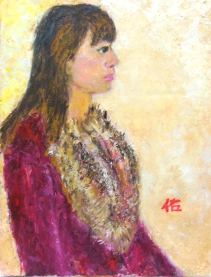 画像1: 12月の少女    F6号   油彩