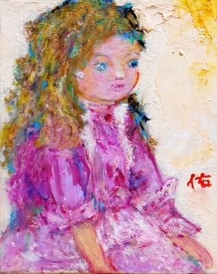 画像1: 人形    F3号   油彩