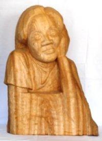 少女 (2)  木彫