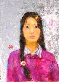 13才の少女   F4号   油彩