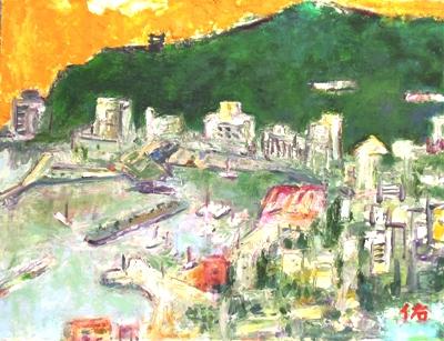 画像1: 春の熱海   F6号    油彩