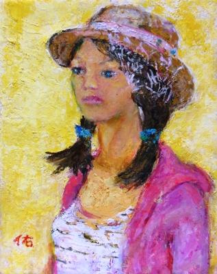 画像1: 13才の少女    F3号    油彩