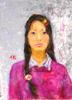 画像1: 13才の少女   F4号   油彩