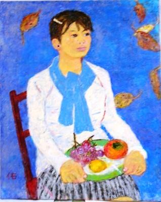 画像1: 秋の譜    F30号    油彩