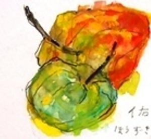 画像1: ほうずき   カット    ペンに水彩