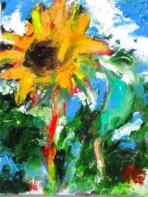 画像1: 向日葵    F0号   油彩