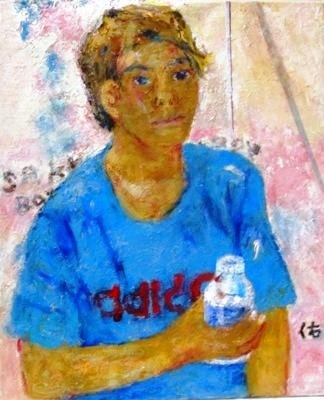 画像1: サッカー少年      F8号      油彩