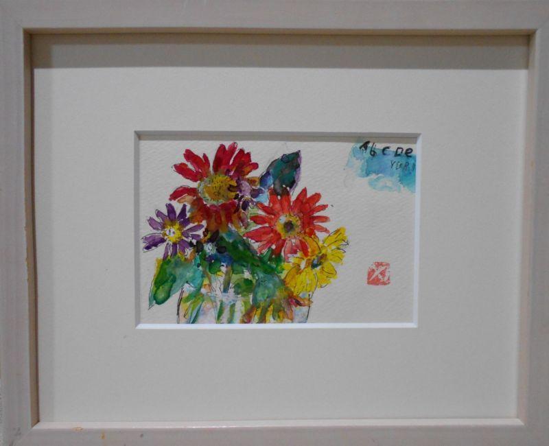 画像1: 花束を    水彩
